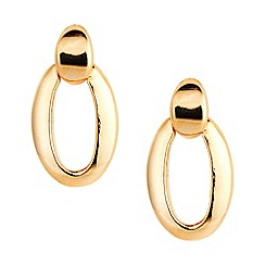Jon Richard - Mini gold door knocker earring