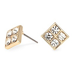 Jon Richard - Crystal encased square stud earring