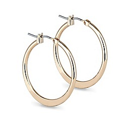 Jon Richard - Polished plain gold flat hoop earring