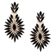 Online exclusive jet crystal spike drop earring