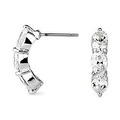 Jon Richard - Triple crystal navette stone hoop earring
