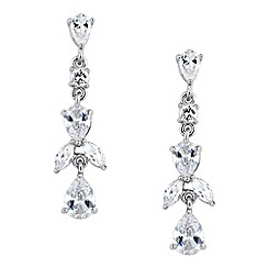 Jon Richard - Crystal navette stone and peardrop earring