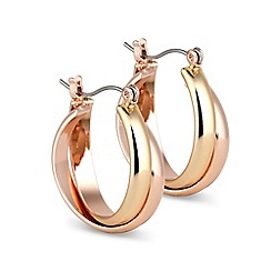 Jon Richard - Two tone cross over hoop earring