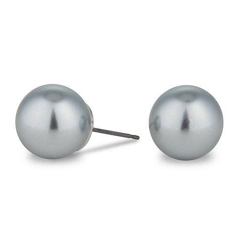 Jon Richard - Large grey pearl stud earring