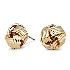 Jon Richard - Large textured gold knot earring