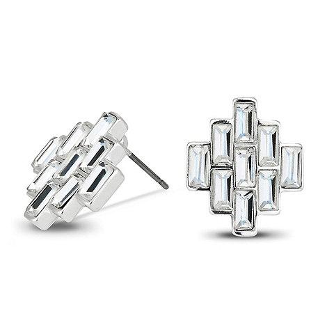Jon Richard - Baguette stone cluster stud earring