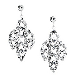 Jon Richard - Diamante crystal multi navette drop earring