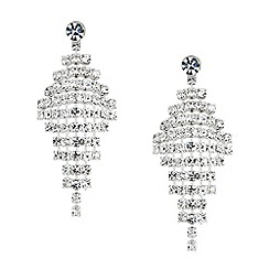 Jon Richard - Diamante crystal diamond shaped drop earring