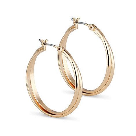 Jon Richard - Polished gold twist hoop earring