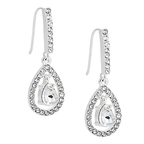 Jon Richard - Crystal teardrop surround earring