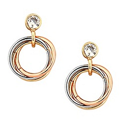 Jon Richard - Mixed metal circular drop earring