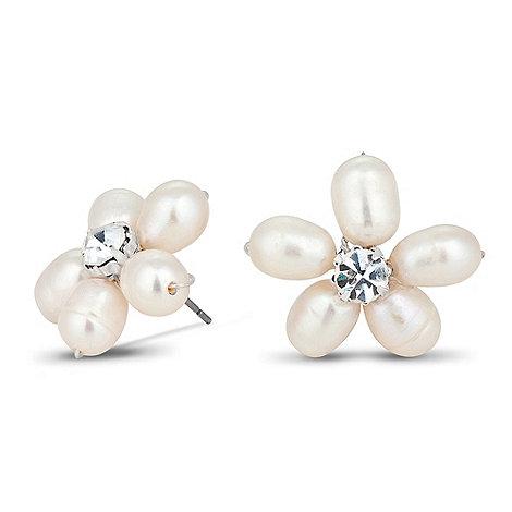 Alan Hannah Devoted - Sophia freshwater pearl flower stud earring