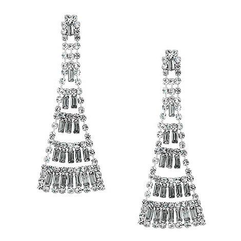 Jon Richard - Statement diamante and baguette stone earring