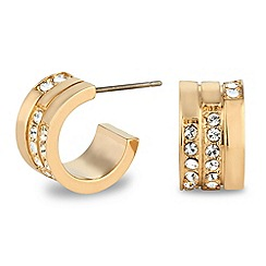 Jon Richard - Crystal gold hoop earring made with SWAROVSKI ELEMENTS