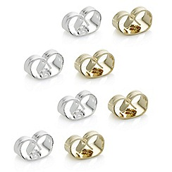 Jon Richard - Multi tone butterfly earring pack