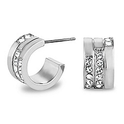 Jon Richard - Crystal silver hoop earring made with SWAROVSKI ELEMENTS