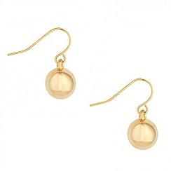 Jon Richard - Polished gold ball drop earring