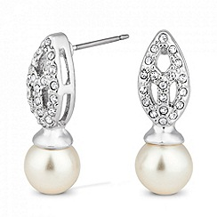 Jon Richard - Pearl and crystal peardrop earring