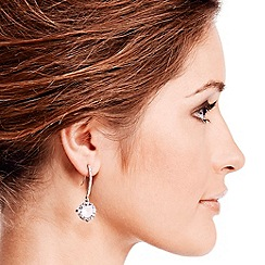 Jon Richard - Large solitaire stone drop earring