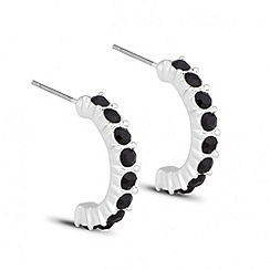 Jon Richard - Jet crystal half hoop earring