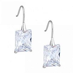 Jon Richard - Cubic zirconia baguette drop earring