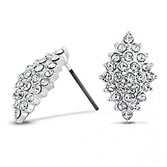 Jon Richard - Crystal encased diamond shaped earring
