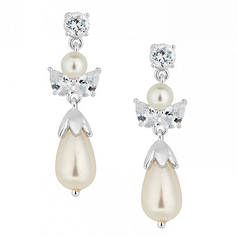 Alan Hannah Devoted - Designer cubic zirconia and pearl drop earring