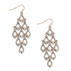 Jon Richard - Crystal set peardrop chandelier earring