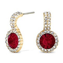 Jon Richard - Round red crystal drop earring