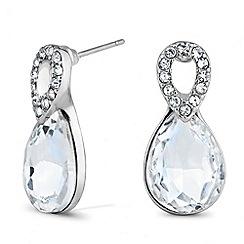 Jon Richard - Clear peardrop and crystal top earring