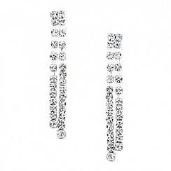 Jon Richard - Diamante crystal double drop earring