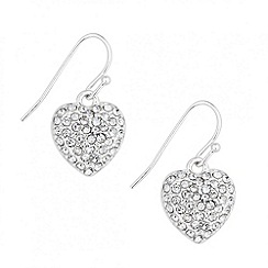 Jon Richard - Pave crystal heart drop earring