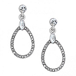 Jon Richard - Crystal embellished peardrop earring