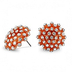 Jon Richard - Rose gold crystal starburst stud earring
