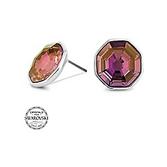 Jon Richard - Lilac shadow solaris stone stud earring made with SWAROVSKI ELEMENTS