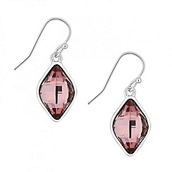 Jon Richard - Lemon fancy pink drop earring made with SWAROVSKI ELEMENTS