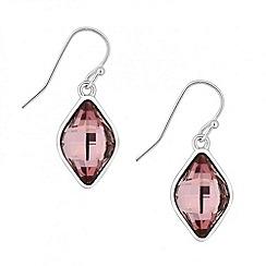 Jon Richard - Lemon fancy pink drop earring made with SWAROVSKI ELEMENTS