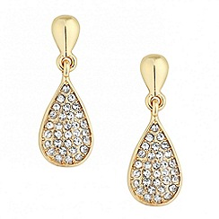 Jon Richard - Gold crystal peardrop earring