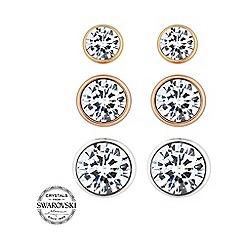 Jon Richard - Triple crystal stud earring set made with SWAROVSKI ELEMENTS
