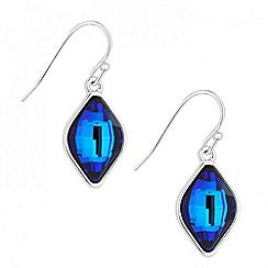 Jon Richard - Bermuda blue lemon fancy drop earring made with SWAROVSKI ELEMENTS