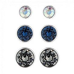 Jon Richard - Triple blue crystal stud earring set made with SWAROVSKI ELEMENTS