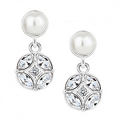 Alan Hannah Devoted - Designer pearl and crystal flower drop earring