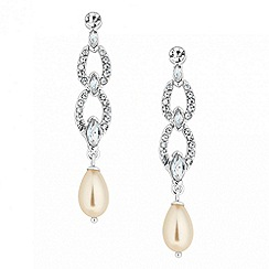 Jon Richard - Crystal and pearl link drop earring