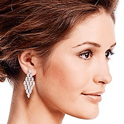 Jon Richard - Diamante crystal cluster drop earring