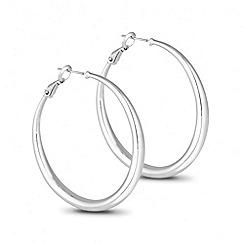 Jon Richard - Large polished silver hoop earring