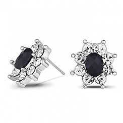 Jon Richard - Jet and crystal surround Kate style stud earring
