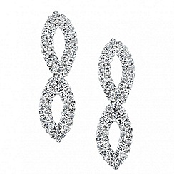 Jon Richard - Diamante crystal twist drop earring
