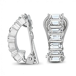 Jon Richard - Baguette stone half hoop clip on earring