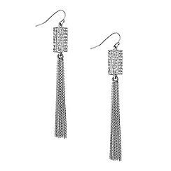 Jon Richard - Gold crystal barrel and tassel drop earring