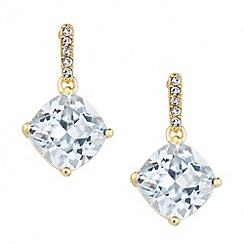 Jon Richard - Cubic zirconia crystal link drop earring